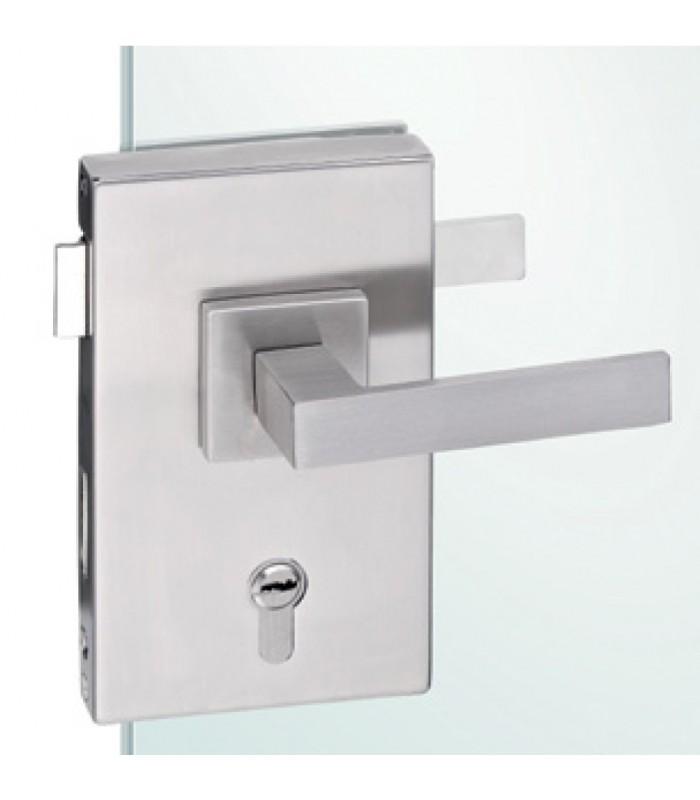 Serrure rectangulaire verticale pour porte en verre igs d co for Porte interieure transparente