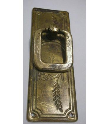 Poignée anneau sur plaque verticale 96 x 33 mm