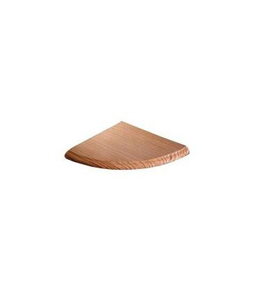 Etagère angulaire 1/4 de rond en bois