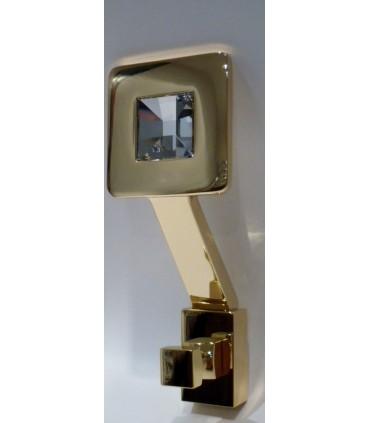 Patère reflex cristal de Swarovski doré brillant