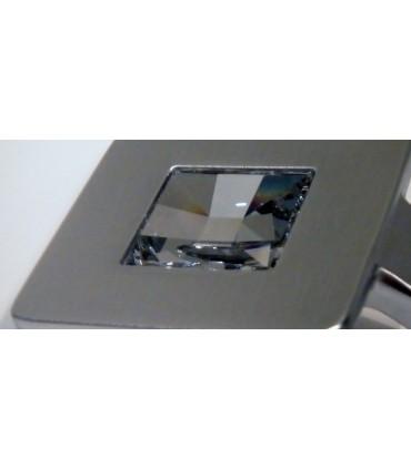 Patère reflex cristal de Swarovski chromé satiné