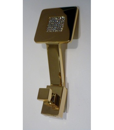 Patère Zen Mesh cristal de Swarovski doré brillant