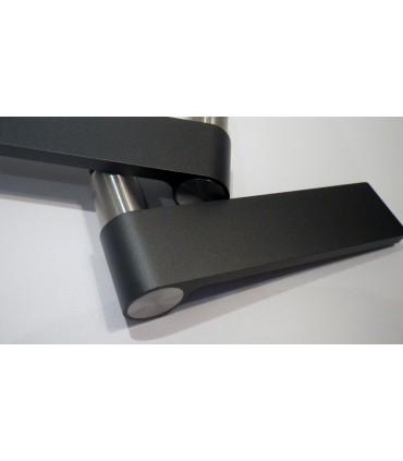 Paire de poignée béquille design Outline dark grey J310