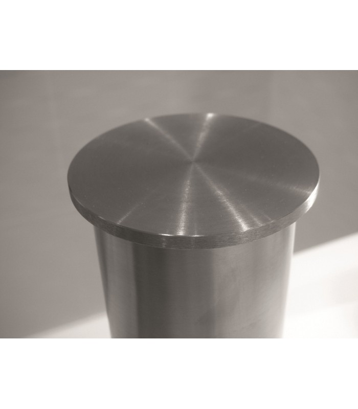 piétement en tube inox aisi304 diamètre 60 mm pour plateau en verre.
