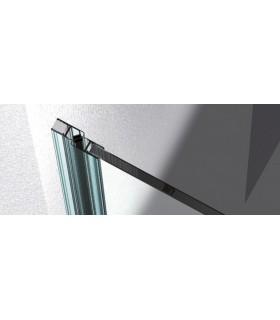 Profil aluminium support de joint d'étanchéité coupé en 2