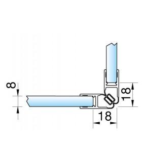 Joint d'étanchéité magnétique 90° décor chromé brillant