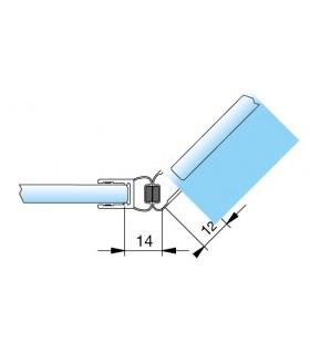 Joint d'étanchéité magnétique 135° décor chromé brillant