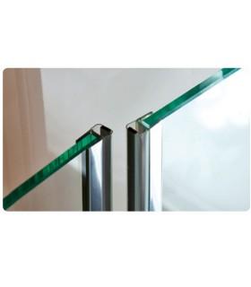 Joint d'étanchéité magnétique 180° décor chromé brillant