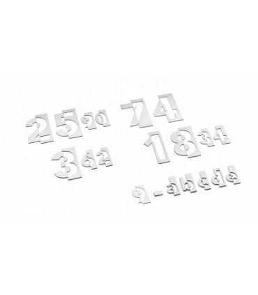 Chiffres et lettres découpés en Inox 304