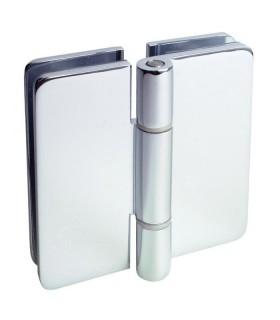 Charnière de porte double en verre sans arrêt
