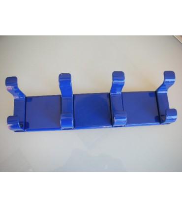 Patère BACO rail de 4 bleu