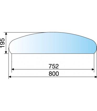 Etagère en verre trempé épaisseur 6 mm