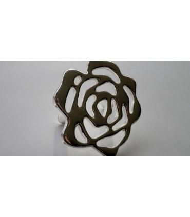 Poignée de meuble série Floris bain d'argent