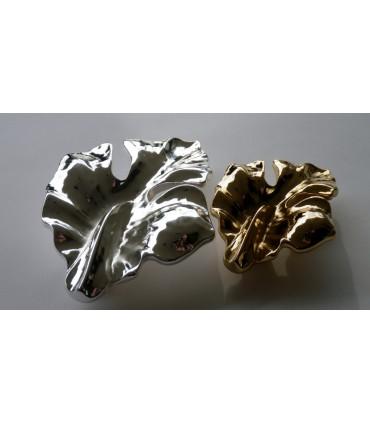 Poignée de meuble série Eden bain d'argent et bain d'or