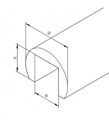 Tube aluminium à fond de gorge diamètre 42.4 mm
