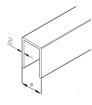Profil en U aluminium hauteur 30 mm