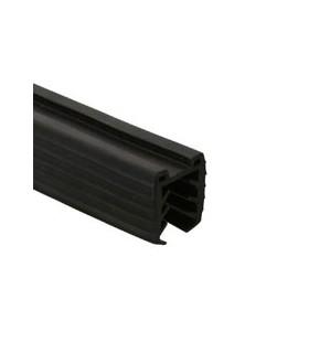 Insert caoutchouc pour tube à fond de gorge elliptique 80/40 mm et verre ép.16 à 17.5 mm mm
