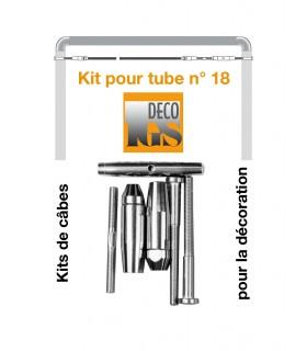 Easy Kit 18 pour montage droit entre 2 tubes ronds