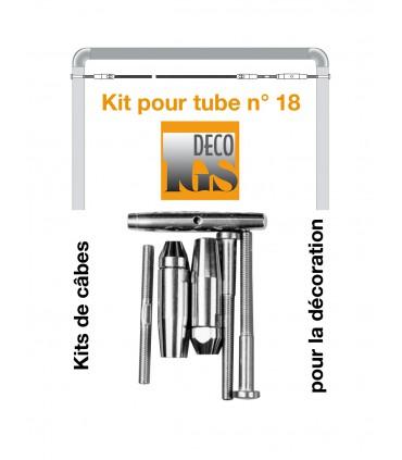 Kit 18 pour montage droit entre 2 tubes ronds