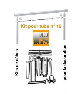 Easy Kit 19 pour montage orientable entre 2 tubes ronds