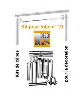 Easy Kit 19 pour montage orientable entre 2 tubes ronds
