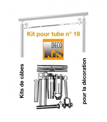Kit 19 pour montage orientable entre 2 tubes ronds