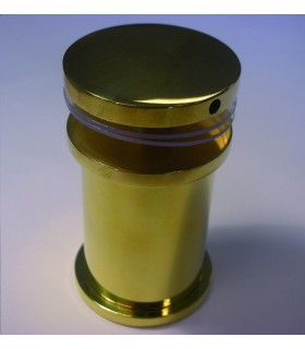 Entretoise de comptoir en laiton poli Ø 32/38 mm
