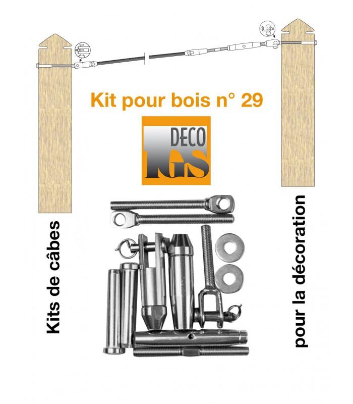 Kit 26 pour montage orientable entre 2 poteaux en bois