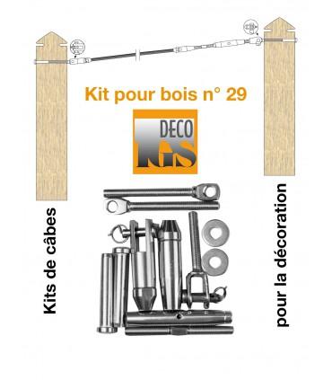 Easy Kit 29 pour montage orientable entre 2 poteaux en bois