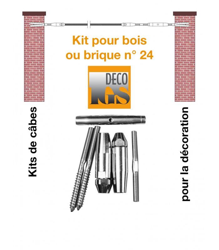 Kit 24 pour montage droit entre murs ou mixte mur / bois