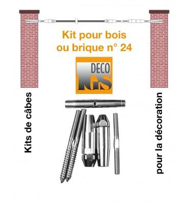 Easy Kit 24 pour montage droit entre murs ou mixte mur / bois