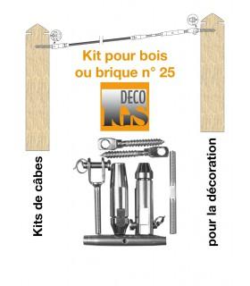 Easy Kit 25 pour montage orientable entre murs ou mixte mur / bois
