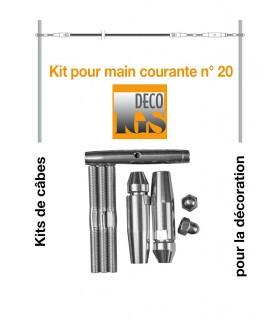 Easy Kit 20 pour montage droit sur fer plat ou tube rectangulaire