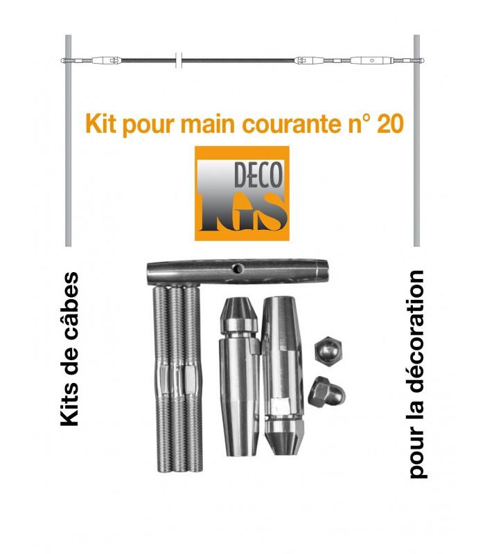 Kit 20 pour montage droit sur fer plat ou tube rectangulaire