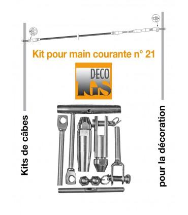 Easy Kit 21 pour montage orientable sur fer plat ou tube rectangulaire