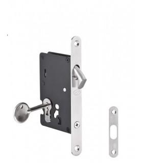 Serrure pour porte coulissante en bois ouverture avec clé