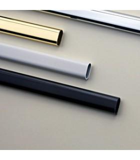 Tube de penderie 30 x 15 mm lg.3000 mm en acier chromé brillant