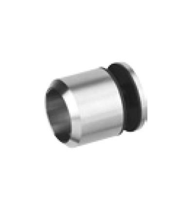Support d'extrémité pour Ø 25 mm fixation sur verre
