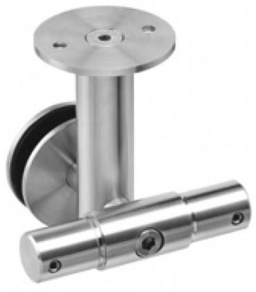 Connecteur intermédiaire pour tube Ø 25 mm fixation plafond et reprise sur imposte verre
