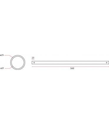 Tube inox diamètre 25 mm épaisseur 2 mm