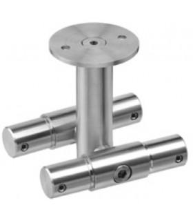 Connecteur intermédiaire double pour tube Ø 25 mm fixation plafond