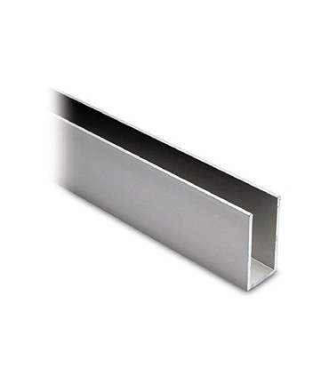 Profil aluminium de 40 x 20 x 40 mm aspect inox brossé