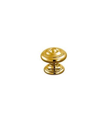 Poignée bouton de meuble finition doré brillant