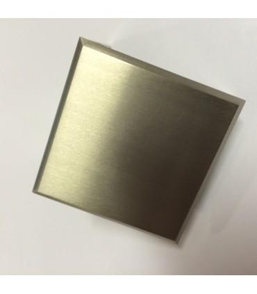 Equerre de fixation inox brossé verre sur mur à 90°