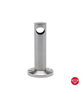 Support ouvert sur platine pour barre chapelière Ø 6 ou 10 mm