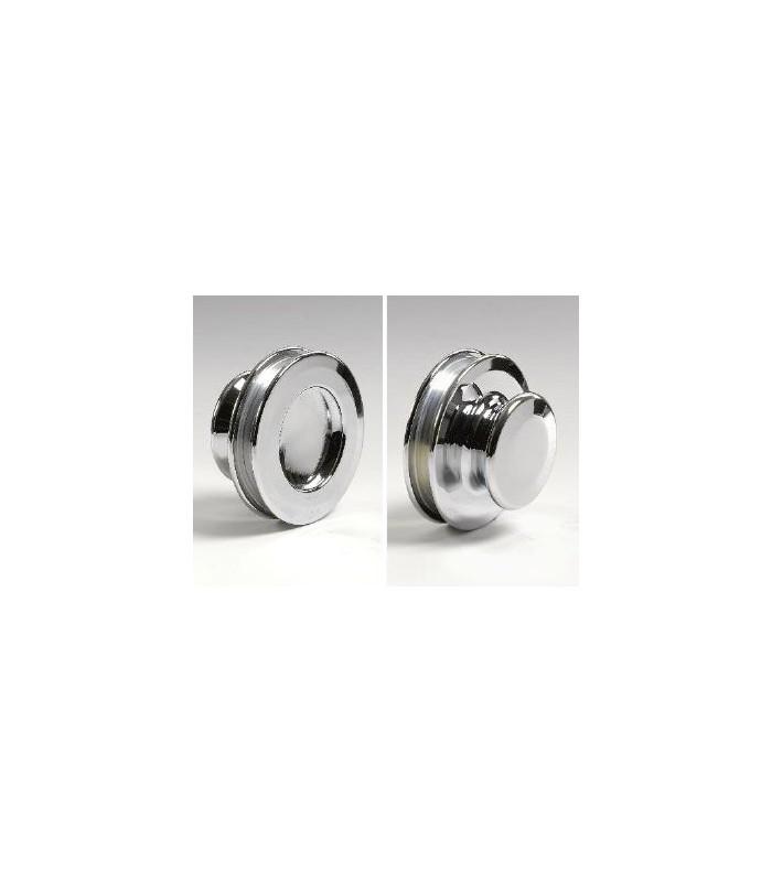 Poignée anneau borgne avec prise pour porte en verre