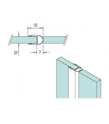 Joint d'étanchéité ballon oval coupé en 2 pour verre épaissuer 10 mm