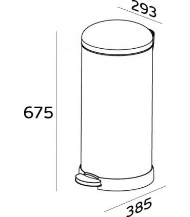 Poubelle inox couvercle bombé 30 litres