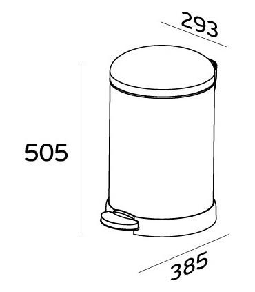 Poubelle inox couvercle bombé 20 litres