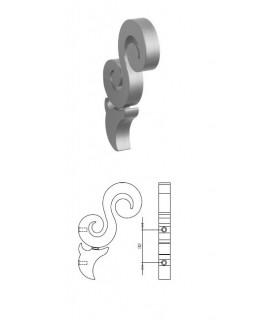 Poignée verticale forme arabesque série DID-SV